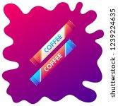 instant coffee gradient flat... | Shutterstock .eps vector #1239224635