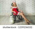 attractive snow maiden  in a... | Shutterstock . vector #1239236332