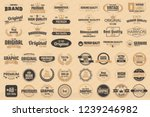 vintage retro vector logo for... | Shutterstock .eps vector #1239246982