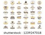 vintage retro vector logo for... | Shutterstock .eps vector #1239247018