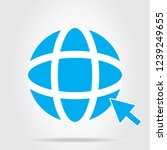 world wide web icon vector... | Shutterstock .eps vector #1239249655