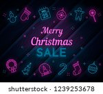 set of christmas and new year... | Shutterstock .eps vector #1239253678