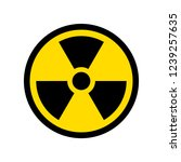 reproduction of radioactive... | Shutterstock . vector #1239257635
