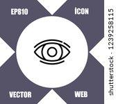 eyes icon vector   Shutterstock .eps vector #1239258115