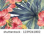 green red exotic pattern.... | Shutterstock .eps vector #1239261802