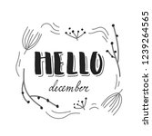 hello december  branches and... | Shutterstock .eps vector #1239264565