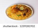isolated chicken biryani  top... | Shutterstock . vector #1239281932