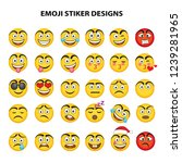 emoji vector set collection in... | Shutterstock .eps vector #1239281965
