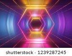3d render  ultraviolet neon... | Shutterstock . vector #1239287245