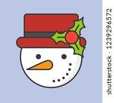 snowman editable outline icon ...   Shutterstock .eps vector #1239296572