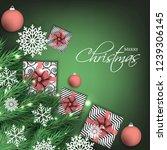 christmas party invitation... | Shutterstock .eps vector #1239306145