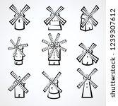mill set. vector | Shutterstock .eps vector #1239307612