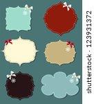 set of different speech bubbles ... | Shutterstock . vector #123931372