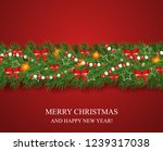 christmas and happy new year... | Shutterstock .eps vector #1239317038
