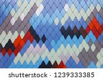 colored patterned facade | Shutterstock . vector #1239333385