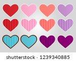 set of decorative hearts | Shutterstock .eps vector #1239340885