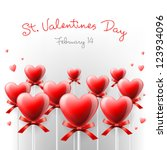 valentine's day card with... | Shutterstock .eps vector #123934096