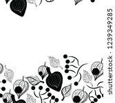 black fizalis botanical... | Shutterstock .eps vector #1239349285