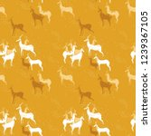 seamless antelopes pattern in... | Shutterstock .eps vector #1239367105