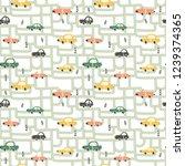 vector seamless pattern  funny...   Shutterstock .eps vector #1239374365