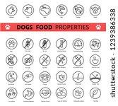 dog's food properties icon set  ... | Shutterstock .eps vector #1239386338