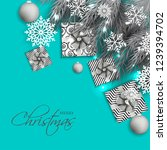 christmas party invitation... | Shutterstock .eps vector #1239394702