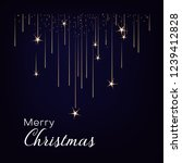 greeting card with stars in the ... | Shutterstock .eps vector #1239412828
