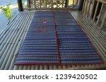 reed mats  handmade mat of...   Shutterstock . vector #1239420502