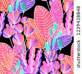 creative seamless pattern with... | Shutterstock . vector #1239428848