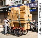new dehli  india   february 19  ... | Shutterstock . vector #1239447625