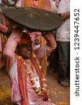 barsana  india   february 24 ... | Shutterstock . vector #1239447652