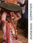 barsana  india   february 24 ... | Shutterstock . vector #1239447655