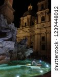 night shot of iconic landmark... | Shutterstock . vector #1239448012