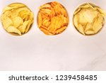 three sorts of crispy and... | Shutterstock . vector #1239458485