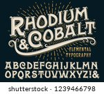 rhodium   cobalt is an vintage... | Shutterstock .eps vector #1239466798