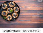 flat lay. homemade blueberry... | Shutterstock . vector #1239466912