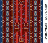 seamless pattern with red belts ... | Shutterstock .eps vector #1239476305