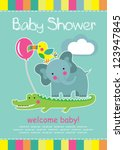 Stock vector cute baby shower vector illustration 123947845
