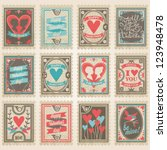 Vector Postage Stamps Set....