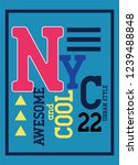 new york awesome and cool t... | Shutterstock .eps vector #1239488848