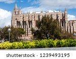 cathedral la seu in palma de... | Shutterstock . vector #1239493195