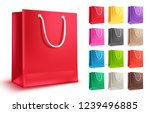colorful shopping bag vector... | Shutterstock .eps vector #1239496885