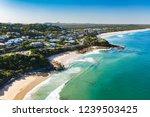 drone aerial looking toward... | Shutterstock . vector #1239503425