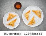 cup of tea and vegetarian... | Shutterstock . vector #1239506668