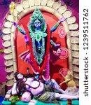 worship of goddess kali | Shutterstock . vector #1239511762