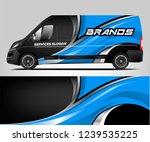 van wrap design for company ... | Shutterstock .eps vector #1239535225