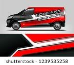 van wrap design for company ... | Shutterstock .eps vector #1239535258