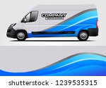 van wrap design for company ... | Shutterstock .eps vector #1239535315