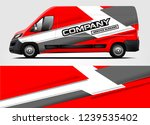 van wrap design for company ... | Shutterstock .eps vector #1239535402