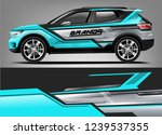 car wrap design for company ... | Shutterstock .eps vector #1239537355